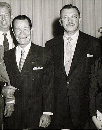 Joe E. Brown - Brown and Irving Leroy Ress (right) c. 1950