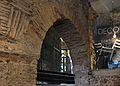 Restes de la muralla islàmica a un comerç del final del carrer Cavallers, València.JPG