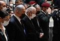 Reuven Rivlin lays a wreath at the memorial service for the Israeli casualties of war, April 2021 (GPOMN3 4520).jpg