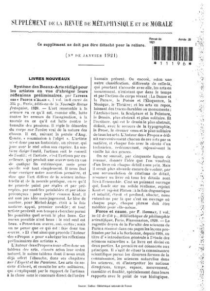 File:Revue de métaphysique et de morale, supplément 1, 1921.djvu