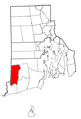 Rhode Island Municipalities Hopkinton Highlighted.png