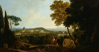 Richard Wilson (painter) - St Peters and the Vatican from the Janiculum, Rome