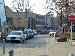 Calle comercial Wedeler Landstraße en Rissen.