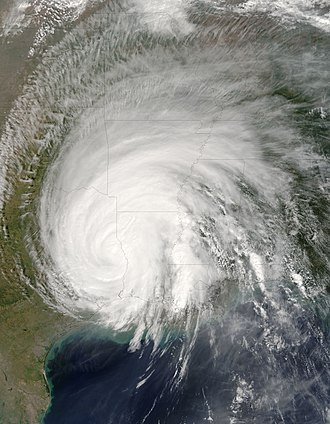 Hurricane Rita - Rita in the Texas-Louisiana border on September 25