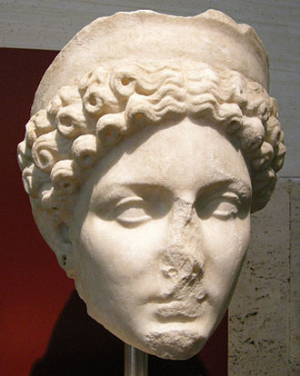 Claudia Octavia - Portrait head of Claudia Octavia, National Museum of Rome