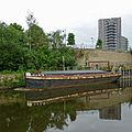 River Aire reflections, Leeds (14306015822).jpg