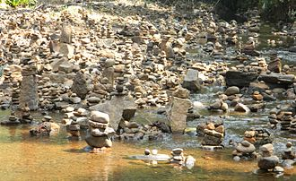 Kukke Subramanya Temple - River in front of the temple