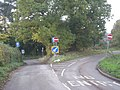 Road junction in Cleobury North, Shropshire, England.jpg