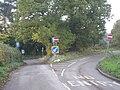 Road junction in Cleobury North, Shropshire, England.jpg