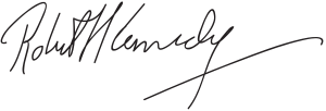 English: Signature of Robert F. Kennedy.