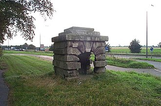 Wentbridge - Robin Hood's Well is on the east of the southbound carriageway of the A1, just south of Barnsdale Bar.