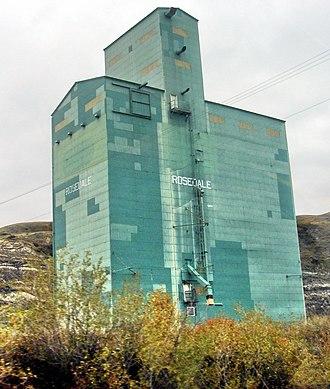 Rosedale, Alberta - Rosedale grain elevator built by Alberta Wheat Pool