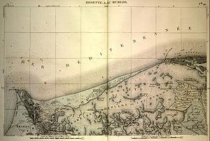 Lake Burullus - Map of Lake Burullus from the early 19th century.