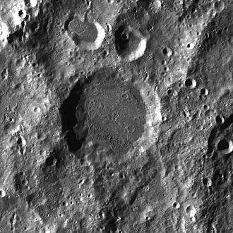 Rosseland (crater) - Image: Rosseland LROC