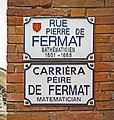Rue Pierre de Fermat (Toulouse) - plaques.jpg