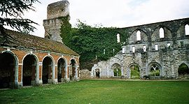 Ruins of Mortemer Abbey in Lisors