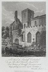 S.E. view of Landaff cathedral: to the Rt. Revd. Herbert Marsh, D.D