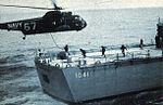 SH-3A Sea King of HS-4 hovers over fantail of USS Bradley (DE-1041) c1968.jpg