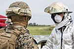 SPMAGTF-CR-AF Marines & Spanish firefighters conduct vehicle extrication training 160427-M-QM580-008.jpg
