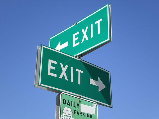 SSF BART exit signs