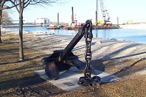 SS Milwaukee - Anchor from the SS Milwaukee, recovered in 1973