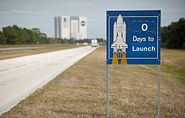 STS-129 Launch Countdown Sign