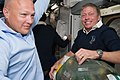 STS-135 Doug Hurley and Mike Fossum after the hatch opening.jpg