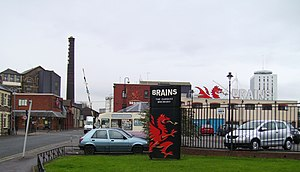 Beer in Wales - The SA Brain Brewery in Cardiff: the largest brewery in Wales