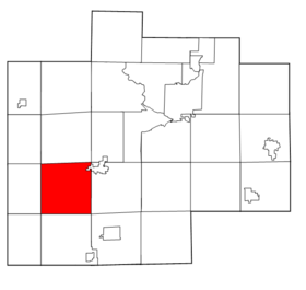 Saginaw County Michigan townships Brant highlighted.png