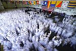 Sailors disperse at the conclusion of a change of command ceremony. (34535288362).jpg