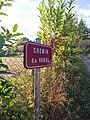 Saint-Just-d'Avray - Chemin du Vanel - Plaque (sept 2018).jpg