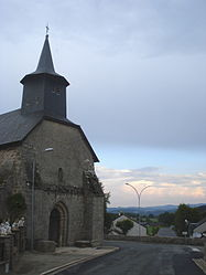 The church in Saint-Priest-la-Feuille