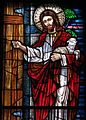 Saint Mary of the Presentation Catholic Church (Geneva, Indiana) - stained glass, Behold I Stand at the Door and Knock, detail.jpg