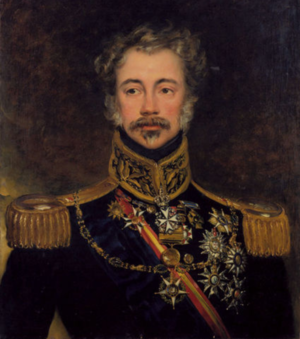 Order of the Immaculate Conception of Vila Viçosa - Duke of Saldanha wearing the Grand Cross of the order of Vila Viçosa among other orders of knighthood.