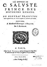Sallust - Traduction de Jean Baudoin, 1616.djvu