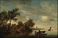 Salomon Jacobsz van Ruysdael - Riviergezicht met veerpont bij een boerderij.jpg
