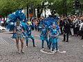 Samba dancer woman and girls from Samba Carioca at Helsinki Samba Carnaval 2015.jpg