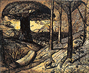 Ancients (art group) - Early Morning, 1825, by Samuel Palmer
