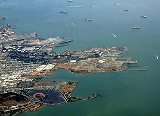 San Francisco Naval Shipyard - Aerial view in May 2010