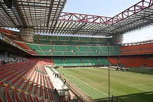 San Siro Stadium (Meazza) panorama empty