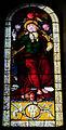 San salvatore al monte, vetrata con dio padre, su disegno del perugino, stemma peruzzi.JPG