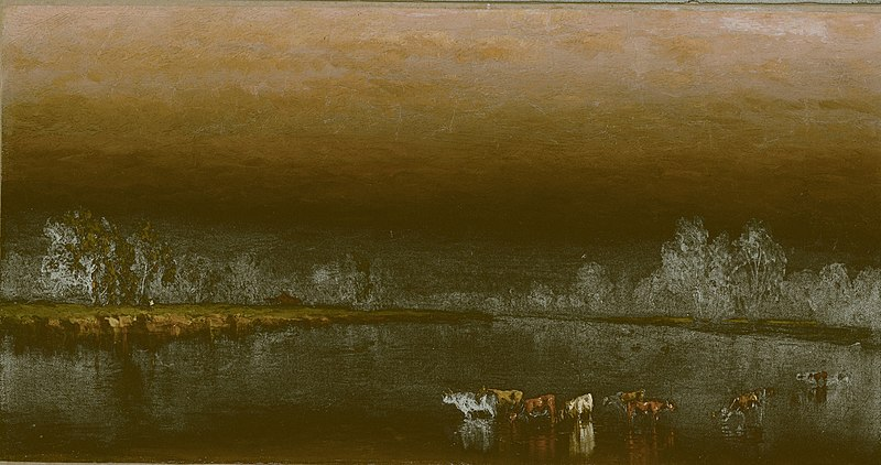 File:Sanford Robinson Gifford - Cows in a Pond at Sunset - 1988.317 - Art Institute of Chicago.jpg