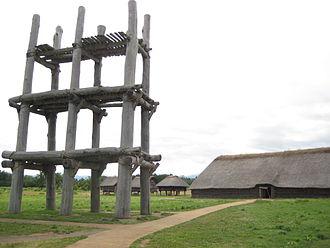 Jōmon period - Reconstructed buildings in the Sannai-Maruyama site, Aomori Prefecture