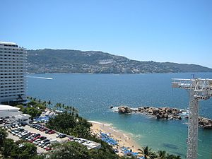 Santa Lucia Bay and Condesa Beach in Acapulco, Mexico.jpg