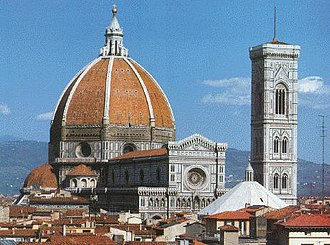 Filippo Brunelleschi - The Santa Maria del Fiore cathedral in Florence possesses the largest brick dome in the world, and is considered a masterpiece of European architecture.