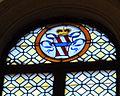 Santa lucia al prato, int., vetrata con stemma corsini 01.JPG