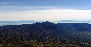 Saddleback (Orange County, California) - Santiago and Modjeska peaks of Saddleback viewed from the west
