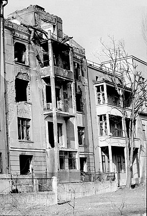 Operation Irma - Shelled buildings in Sarajevo