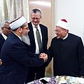 Sayed Tanveer hashmi With Shawki Ibrahim Abdel Karim Allam, Grand Mufti of Egypt.jpg