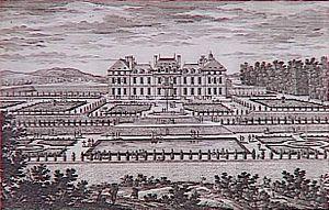 Château de Sceaux - The parterres at Sceaux, engraved by Adam Perelle